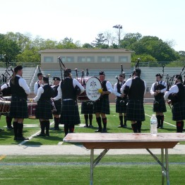 The Fountain Trust Pipe Band competing at the Milwaukee Highland Games on June 2, 2017