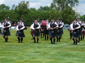 Fountain Trust Pipe Band at the Chicago Highland Games on June 17, 2017.