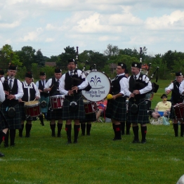 The Fountain Trust Pipe Band competing in the medley event in Chicago, 2017.